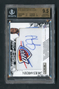 2009 Rookie & Stars James Harden RC Rookie Patch Auto BGS 9.5 Gem Mint/499