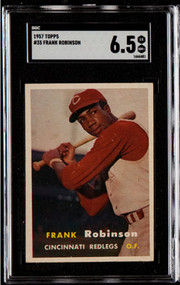 1957 Topps Frank Robinson RC Rookie #35 HOF SGC 6.5 - Centered