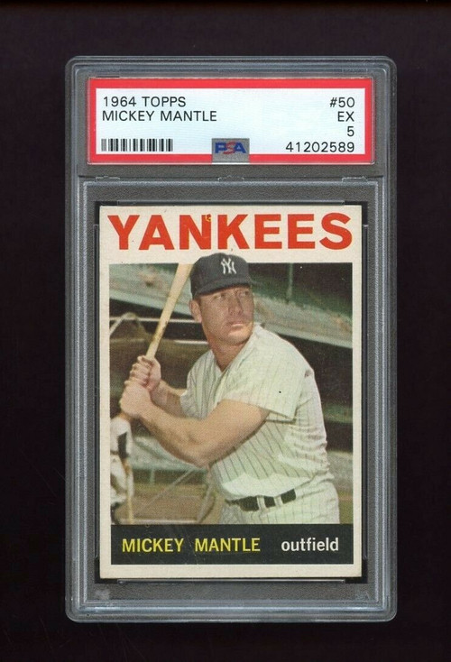 1964 Topps Mickey Mantle #50 HOF PSA 5 - Centered