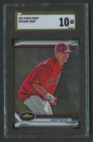 2012 Topps Finest Mike Trout RC Rookie #78 SGC 10 Pristine Gold Label