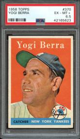 1958 Topps Yogi Berra #370 HOF PSA 6.5-Centered
