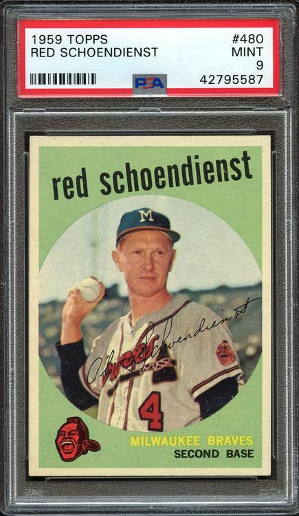 1959 Topps Red Schoendienst #480 PSA 9 Mint