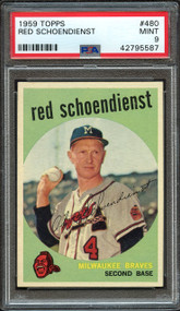 1959 Topps Red Schoendienst #480 PSA 9 Mint