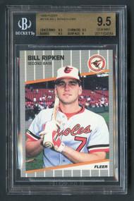 1989 Fleer Bill Ripken #616 FF Error BGS 9.5 Gem Mint