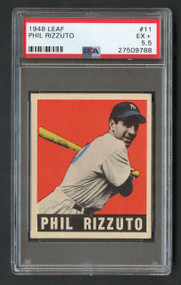 1948 Leaf Phil Rizzuto RC Rookie HOF #11 PSA 5.5 - Centered