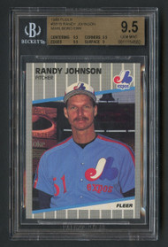 1989 Fleer Randy Johnson Marlboro Error #381 SP-BGS 9.5 Gem Mint