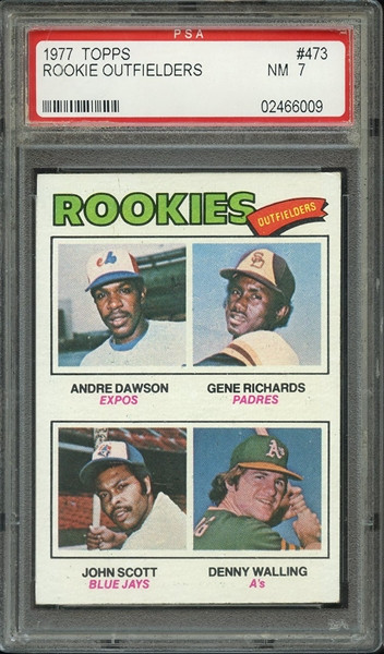 1977 Topps Andre Dawson RC Rookie  #473 HOF PSA 7 - Centered