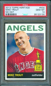 2013 Topps Heritage Mike Trout RC Rookie #430 No Hat PSA 10 Gem Mint-Rare Variation