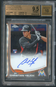2013 Topps Chrome Christian Yelich RC Rookie Auto #CY BGS 9.5 Gem Mint w/10 sub