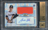 2013 Finest Christian Yelich RC Rookie Patch Auto X-Fractors/149 #CY-BGS 9.5 Gem Mint