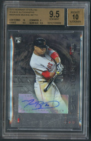 2014 Bowman Sterling Mookie Betts RC Rookie Auto #BSRAMB BGS 9.5 Gem Mint w/10 sub