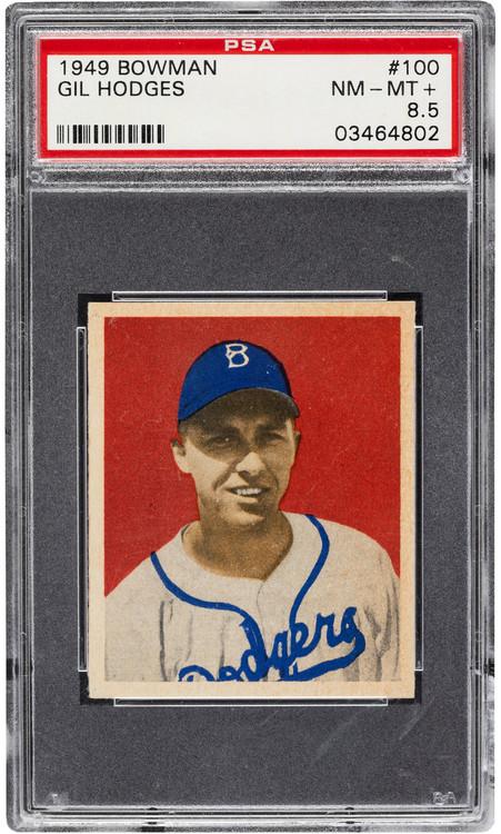 1949 Bowman Gil Hodges RC Rookie #100 PSA 8.5 - Centered