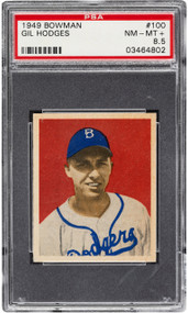 1949 Bowman Gil Hodges RC Rookie #100 PSA 8.5 - Centered