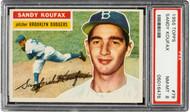 1956 Topps Sandy Koufax #79 HOF PSA 8-White Back