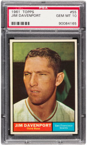 1961 Topps Jim Davenport #55 PSA 10 Gem Mint - Pop 3
