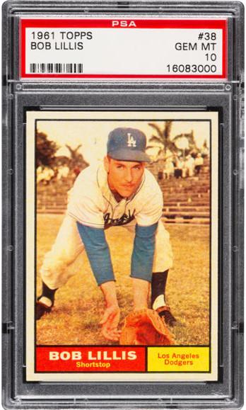 1961 Topps Bob Lillis #38 PSA 10 Gem Mint