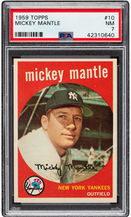 1959 Topps Mickey Mantle #10 PSA 7 - Centered & High-End