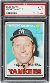 1967 Topps Mickey Mantle #150 HOF PSA 7 - Centered & High-End