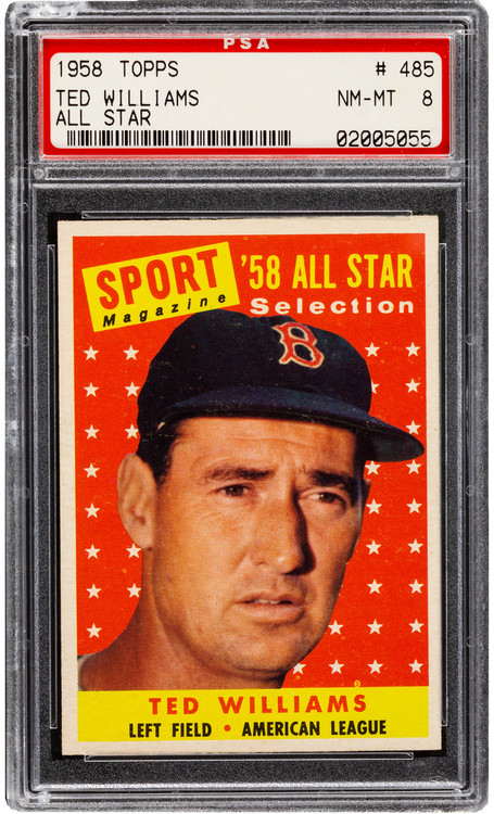 1958 Topps Ted Williams All-Star #485 PSA 8 - Centered