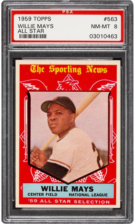 1959 Topps Willie Mays All-Star #563 HOF PSA 8 - Centered & High-End