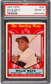 1959 Topps Willie Mays All-Star #563 HOF PSA 8 - Centered & High-End