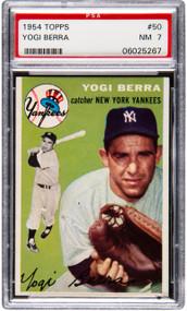 1954 Topps Yogi Berra #50 HOF PSA 7 -Centered