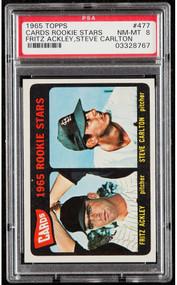 1965 Topps Steve Carlton Rookie RC #477 HOF PSA 8
