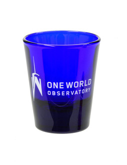 One World Observatory Blue Shot Glass