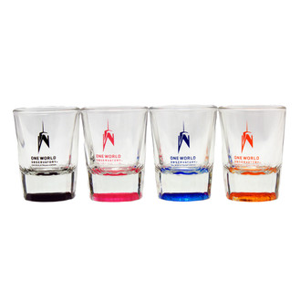 One World Observatory Color Bottom Shot Glass