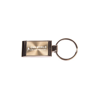 One World Observatory Laser Engraved Keychain