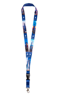 One World Observatory Lanyard Blue