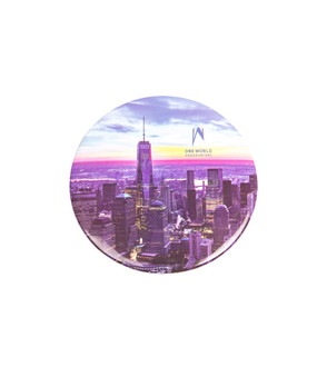 "One World Observatory Round 3"" Night Magnet"