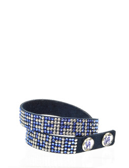 One World Observatory Double Wrap Studded Bracelet with crystals from Swarovski