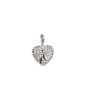 One World Observatory  Heart with Pave crystals Charm with crystals from Swarovski