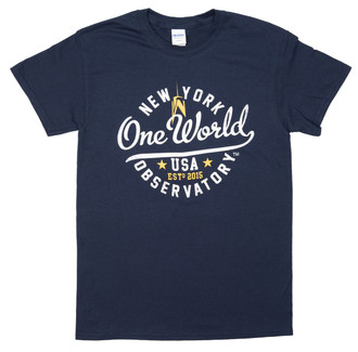 One World Observatory Round It Out Navy Tee