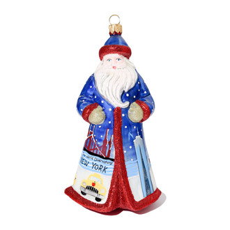 One World Observatory Santa Ornament