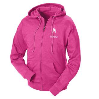 One World Observatory Women's Pink Full-zip Sweatshirt