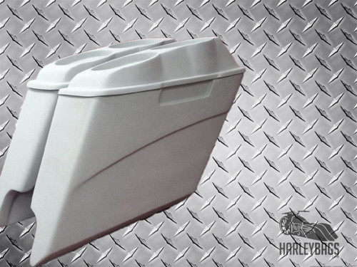 """5"""" Stretched Saddlebags, Dual Speaker Lids - Harley Davidson Motorcycle Cut Outs"""