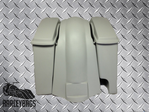 """6"""" Harley Stretched Saddlebags & Fender - Right Side Only 2 in 1 Exhaust Pipes"""