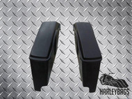 Extended Stretched Fiberglass Bagger Saddlebags w/Lids - Fits Harley 1989 - 2013