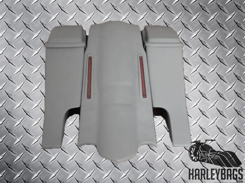 """Harley """"Down-n-Out"""" Stretched Saddlebag & LED Fender Set - Dual Cut Outs"""