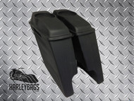 "Harley 4"" Extended Stretched Bagger Saddlebags w/6.5"" Speaker Lids"