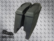 "Harley 4"" Fiberglass Stretched Bagger Saddlebags w/6""x9"" Speaker Lids"