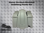 "Harley 4"" Stretched Saddlebags w/ Dual Speaker Lids, 2-in-1 Right Side Cut Out"