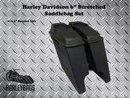 """Harley 6"""" Extended Saddlebags w/6.5"""" Speaker Lids"""
