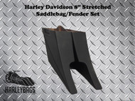 "Harley Custom 8"" Extended Stretched Saddlebags Bags"