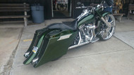 Custom Down & Out Bagger Kit on a Harley Davidson Road King