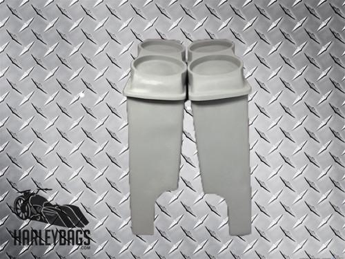 """Harley Davidson 4"""" Stretched Bagger Saddlebags Dual 6.5"""" Speaker Lids -Hard Bags"""