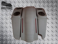 """Harley Davidson 5"""" Stretched Saddlebags, Dual 6x9 Lids - Right Side Cut Out"""
