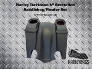 "Harley Davidson 6"" Stretched Saddlebag Fender Kit - 6""x 9"" Speaker Lids"